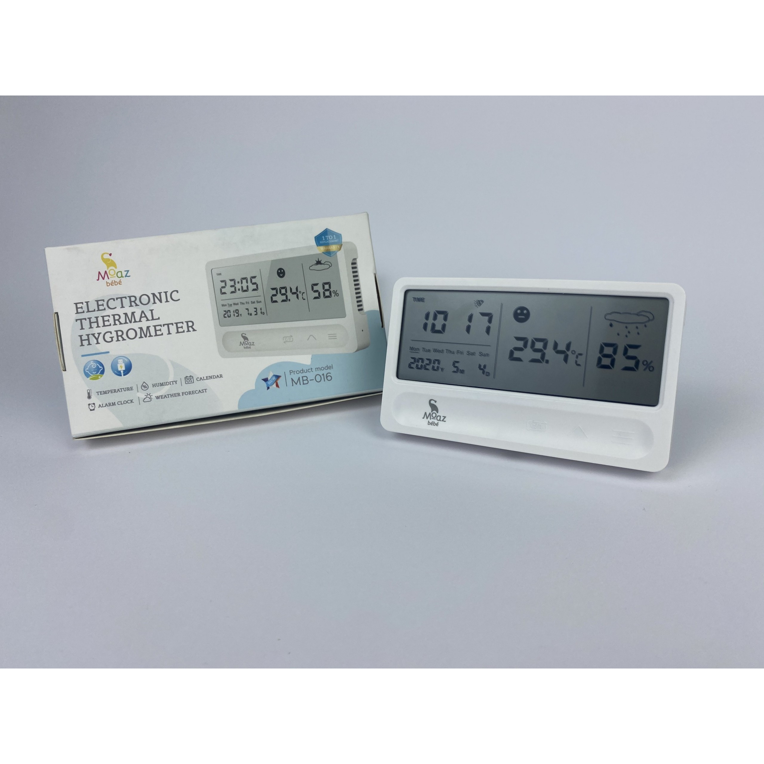 Đồng hồ đo nhiệt độ độ ẩm Moaz Bebe MB-016