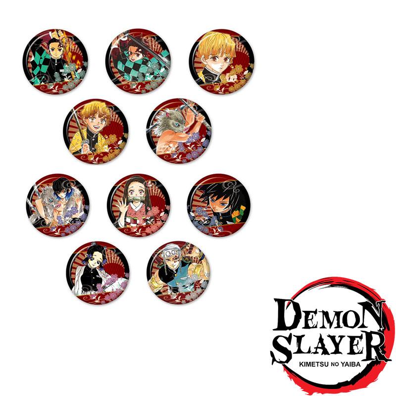 Combo huy hiệu KIMETSU NO YAIBA - THANH GƯƠM DIỆT QUỶ anime nhiều mẫu
