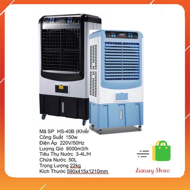 Quạt điều hoà hơi nước 60L điều khiển từ xa HS40B ĐIỀU KHIỂN - Hàng chính hãng