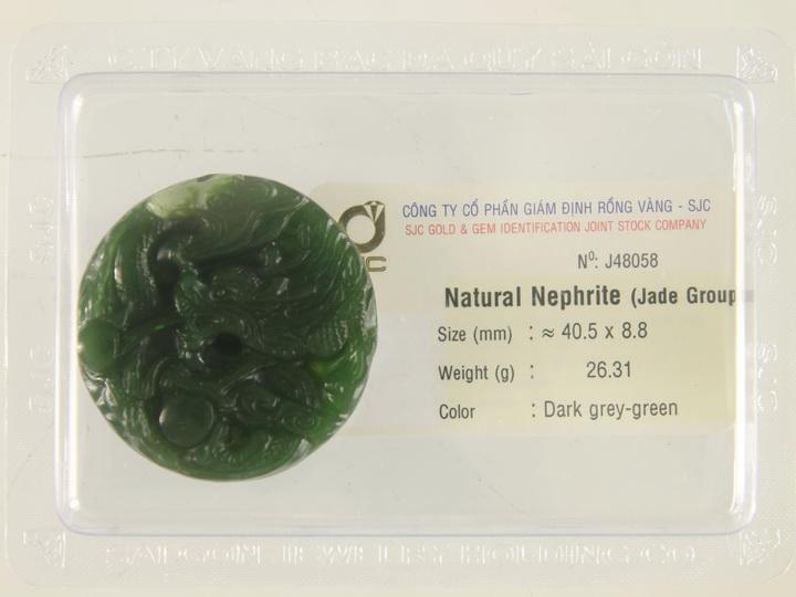 Linh Vật Ngọc Bích - Linh Vật Phong Thủy - Đá Phong Thủy Ngọc Bích - Rồng NBR26.31