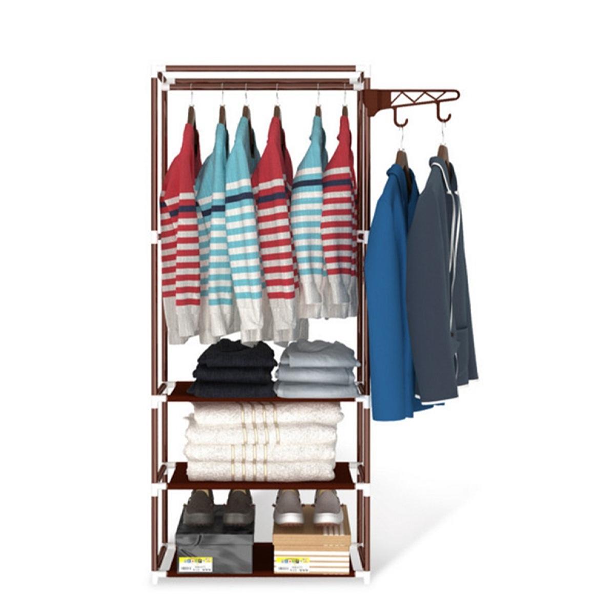 Kệ treo quần áo đa năng 3 tầng (Giao màu ngẫu nhiên)