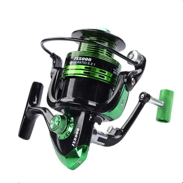 Bộ cần câu cá carbon màu đen - Kèm máy kim loại JX kim loại cao cấp - Tặng 8 phụ kiện BCC0044