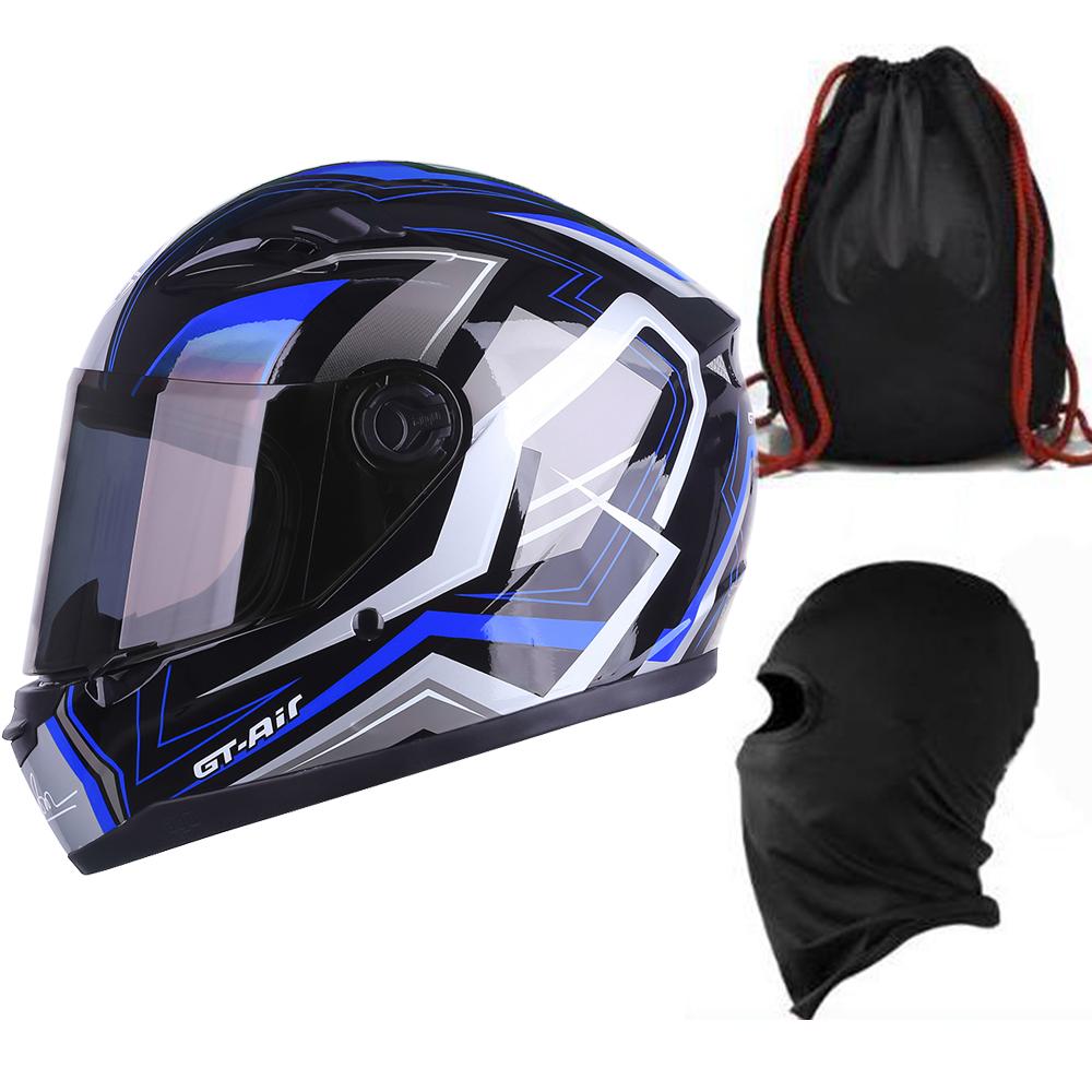 Mũ Bảo Hiểm Đẹp Fullface AGU Tem 11 + Khăn Ninja + Tặng kèm túi đựng nón chống trầy