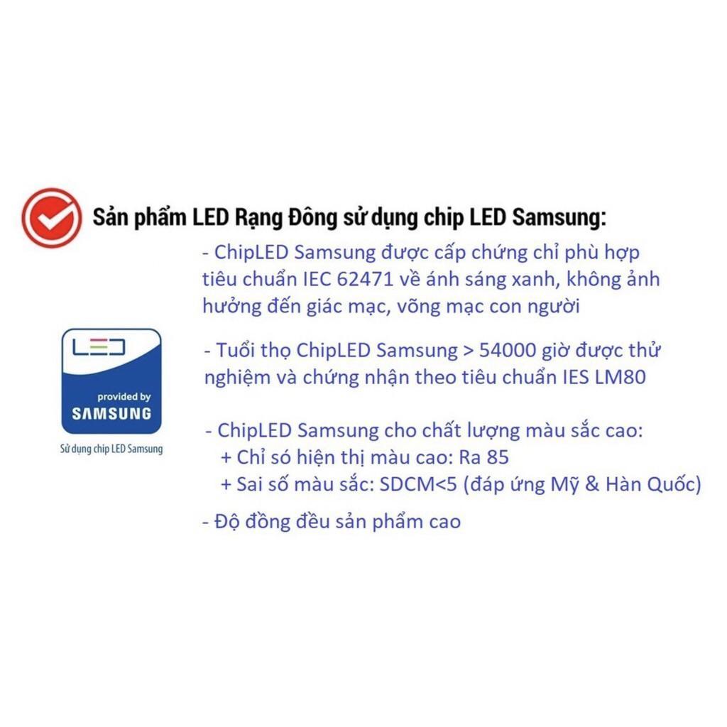Đèn LED âm trần 7W Rạng Đông, khoét lỗ 110, vỏ nhôm đúc, cánh tản nhiệt