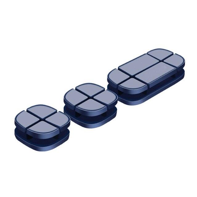 Giá đỡ Kẹp Cáp Earldom Silicon giúp sắp xếp gọn dây sạc - Hàng chính hãng  + Tặng kèm hộp đựng tai nghe