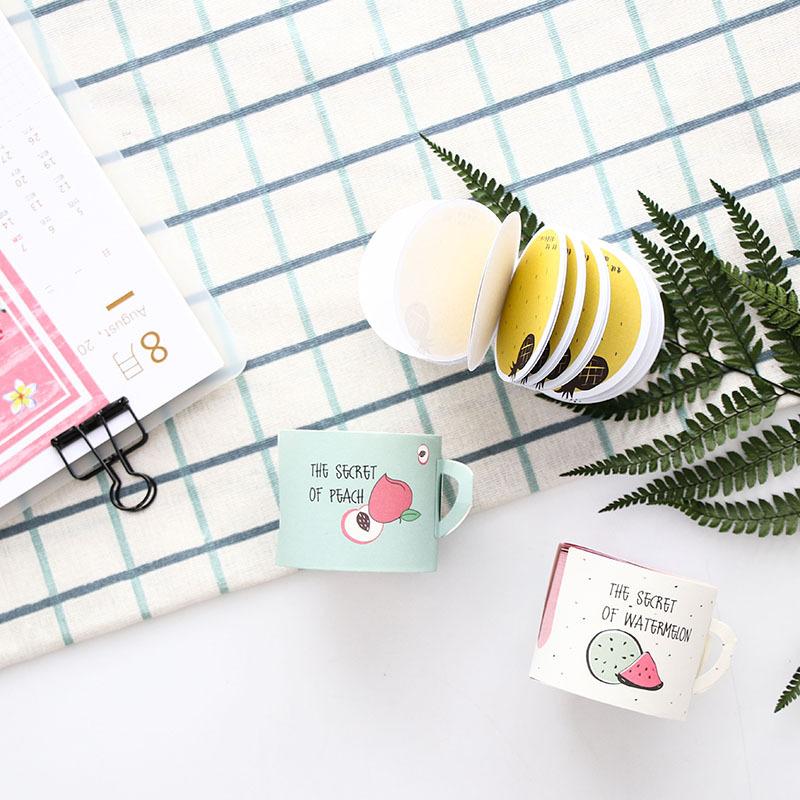 Giấy stick note ghi chú tập viết chữ cuộn 400 tờ hình trái cây dễ thương