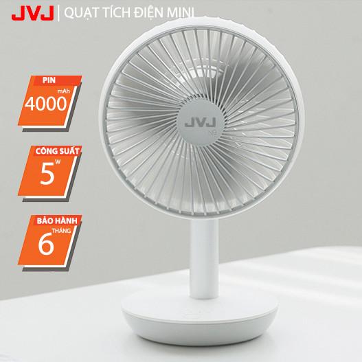 Quạt mát mini tích điện JVJ N9-FAN STAND để bàn 4 chế độ, tiếng êm - Hàng Chính Hãng