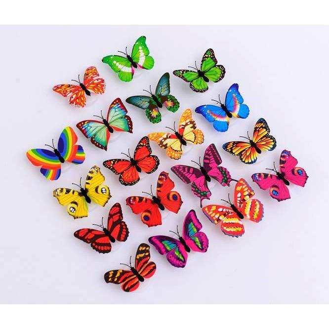 Bộ 4 đèn led bướm ngộ nghĩnh nhiều màu