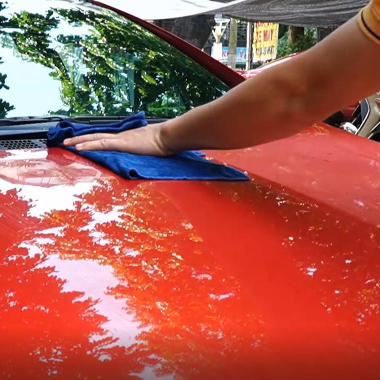 Phủ bóng ô tô dạng nước Nhật Bản hiệu ứng lá sen chống bám nước - HI.SPEED