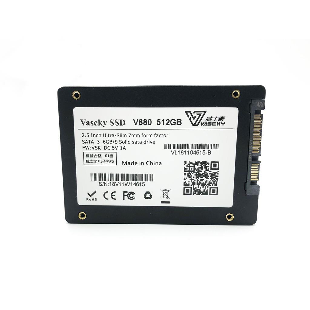 Ổ cứng SSD Vaseky 512GB V800 SATA III 2.5 inch - Hàng Chính hãng