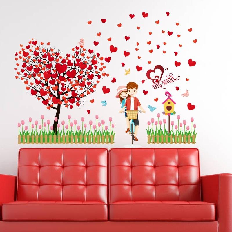 Decal dán tường vườn tình yêu