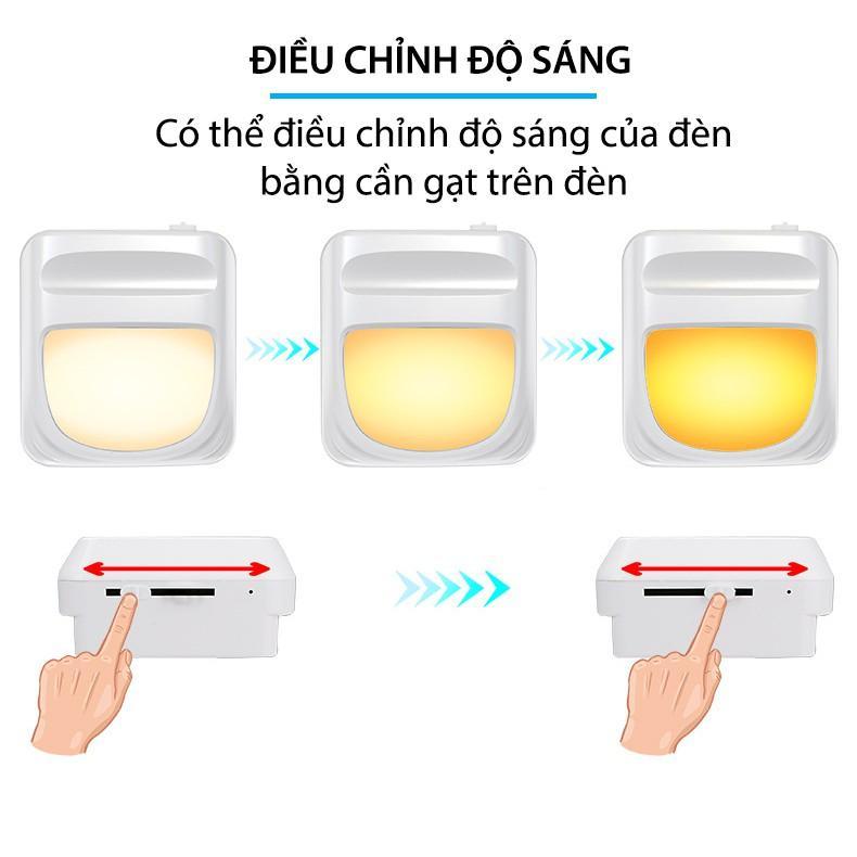 Đèn Ngủ Tự Động Sáng Khi Tối, Ánh Sáng Dịu Bảo Vệ Mắt Cho Bé (điều chỉnh được độ sáng)