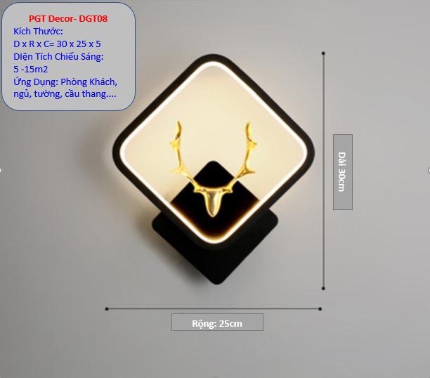 Đèn Led Gắn Tường DGT09- Đèn Led Trang Trí- Đèn Cầu Thang Phòng ngủ.