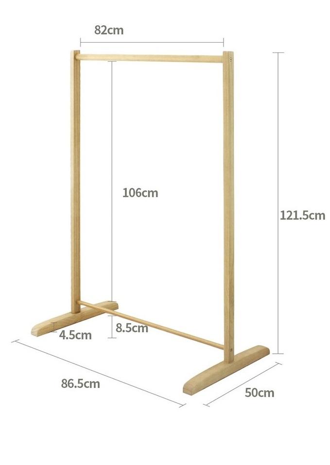 GIÁ TREO QUẦN ÁO  SINGLE HANGER -MÀU TRẮNG- DÀI 86 cm x Cao 123cm