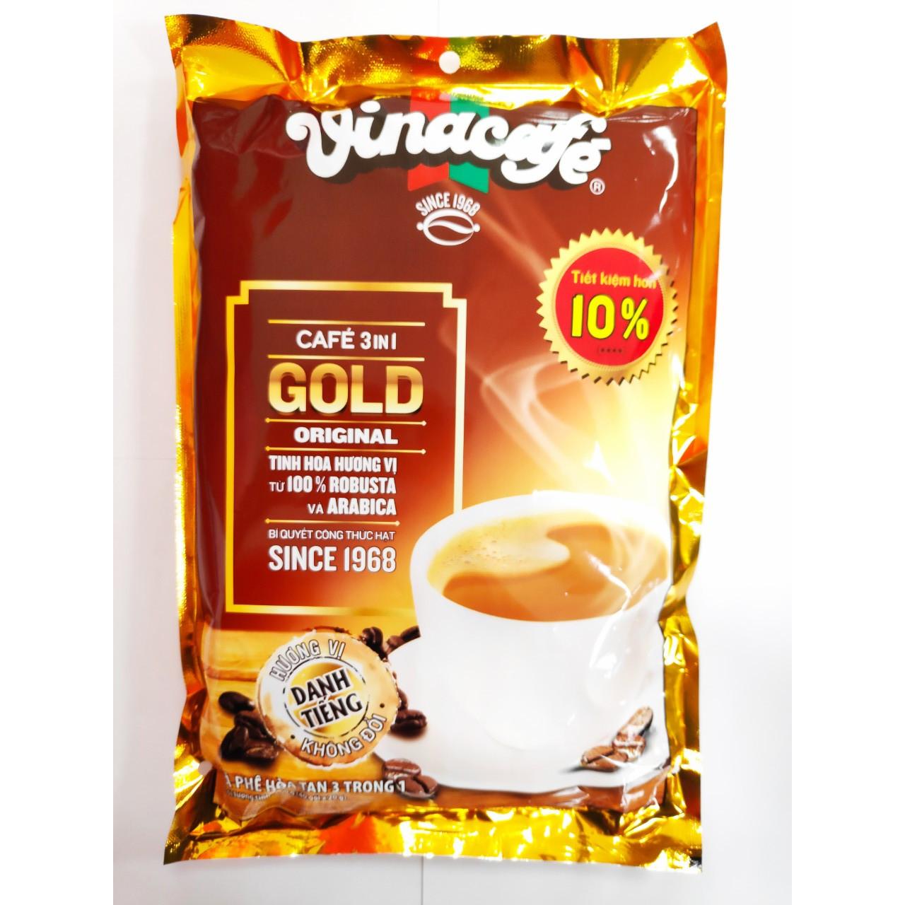 Bịch 40 Gói Cafe Hòa Tan 3 In 1 Gold Orinal Vinacafé 20g / Gói (Bao Bì Mới)