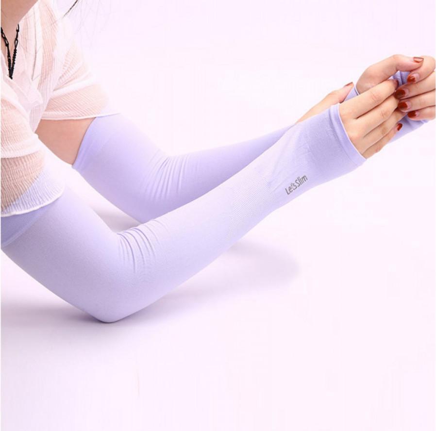 Bộ găng tay chống nắng xỏ ngón - tím