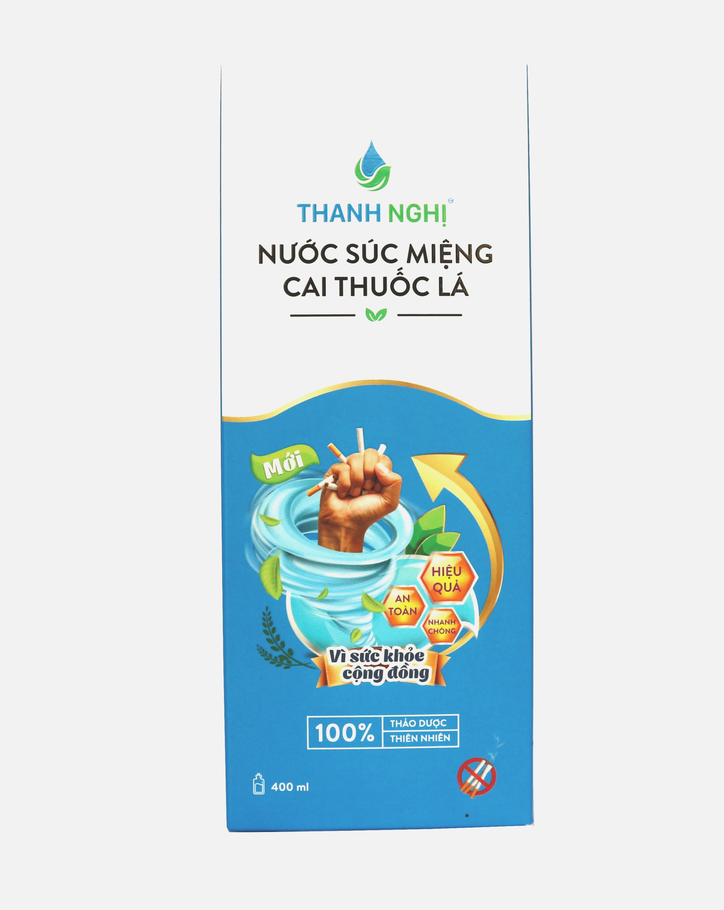 Nước Súc Miệng Cai Thuốc Lá, Thuốc Lào Thanh Nghị - Hỗ trợ cai thuốc lá hiệu quả (Mẫu mới) 01 chai x 400ml