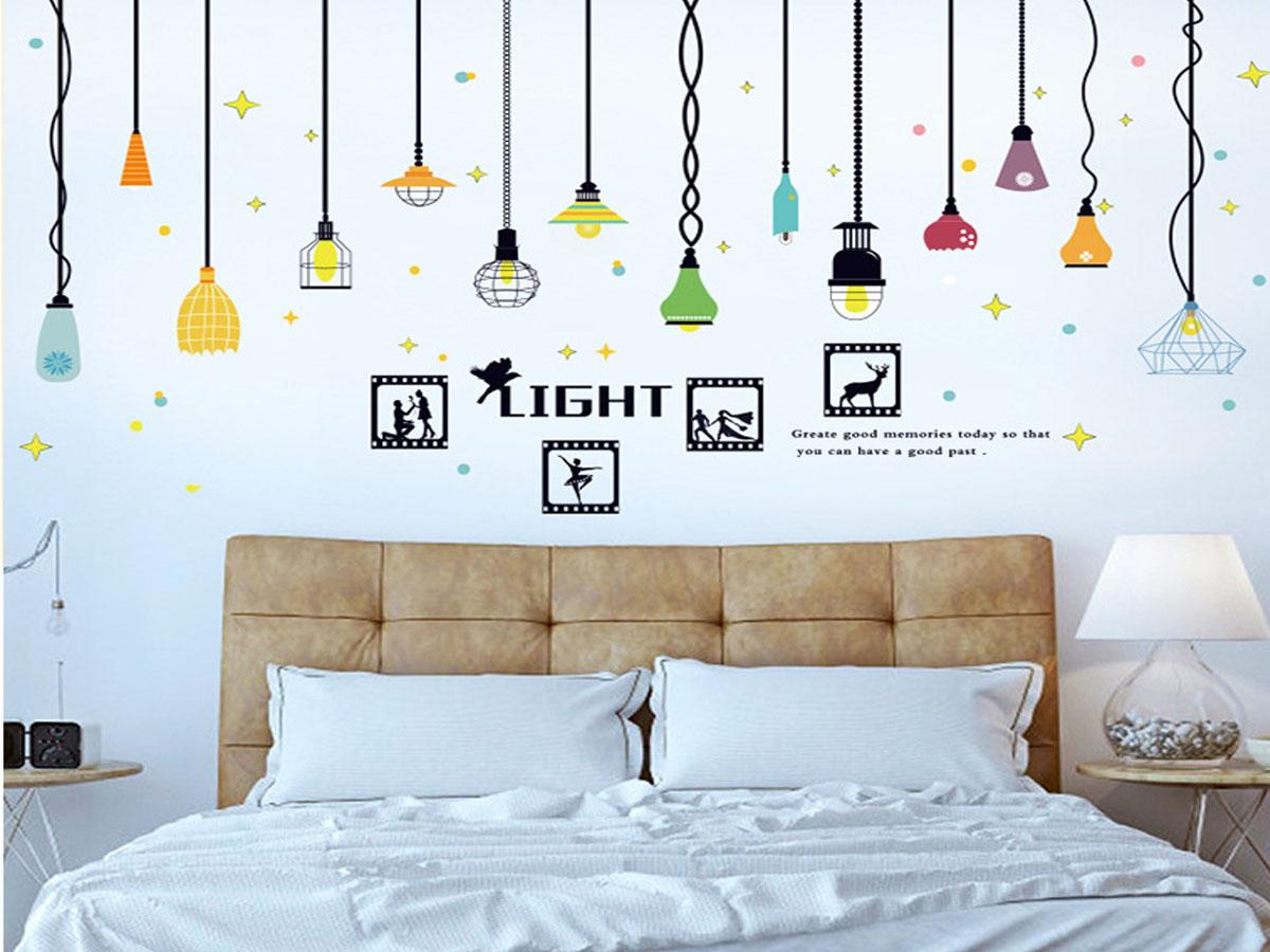 decal dán tường đèn treo khung ảnh light sk9344