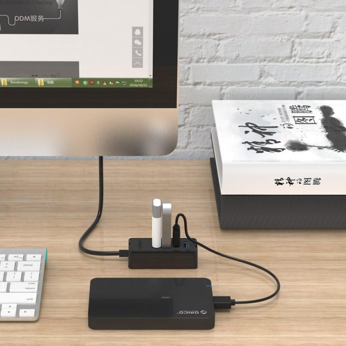Bộ Chia USB 4 Cổng (Hub USB) Orico - Hàng Chính Hãng