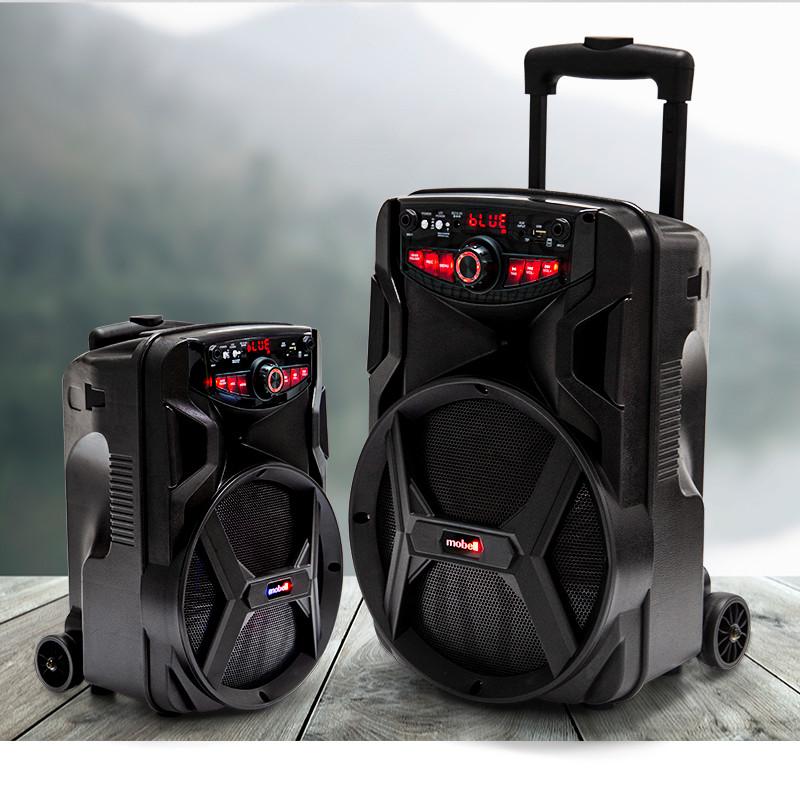 Loa Kéo Di Động Bluetooth Có Tay Cầm, Bass 25cm, Nhỏ, Gọn Mobell 1021B Kèm 1 Micro Không Dây Hát Karaoke Cực Hay - Chính Hãng