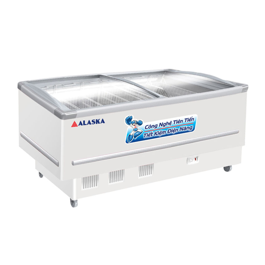 TỦ ĐÔNG TRƯNG BÀY KEM ALASKA 400 LÍT KN-400 NHÔM (R404A) (hàng chính hãng) (chĩ giao HCM)