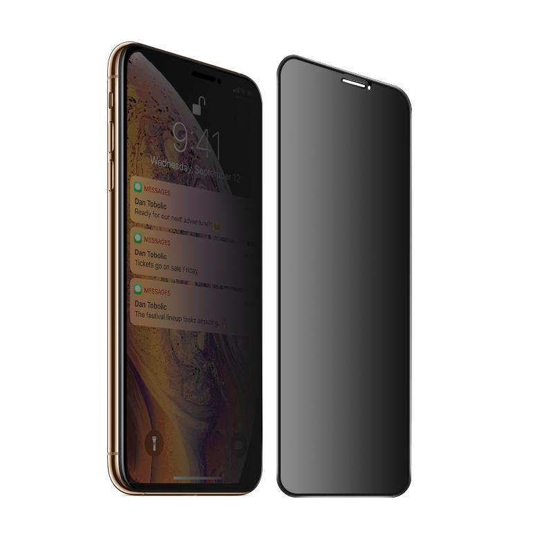 Miếng Dán cường lực iPhone 11 Pro Max Full 3D ANTI-SPY MIPOW KING BULL Chống Nhìn Trộm  - Hàng chính hãng
