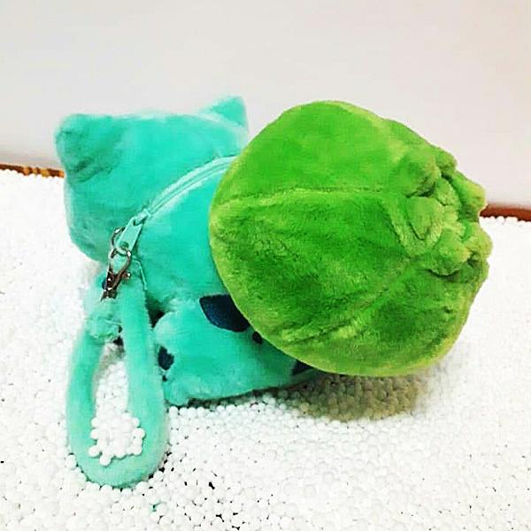 Gấu Bông Pokemon Bulbasaur - Ếch Kỳ Diệu Có Dây Kéo (30 Cm) Gb156 (Tặng 1 Đèn Led 8 Bóng Siêu Sáng Cắm Cổng Usb)