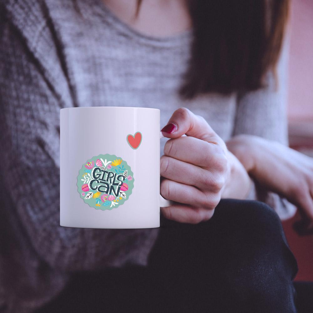 Girl can - Single Sticker hình dán lẻ