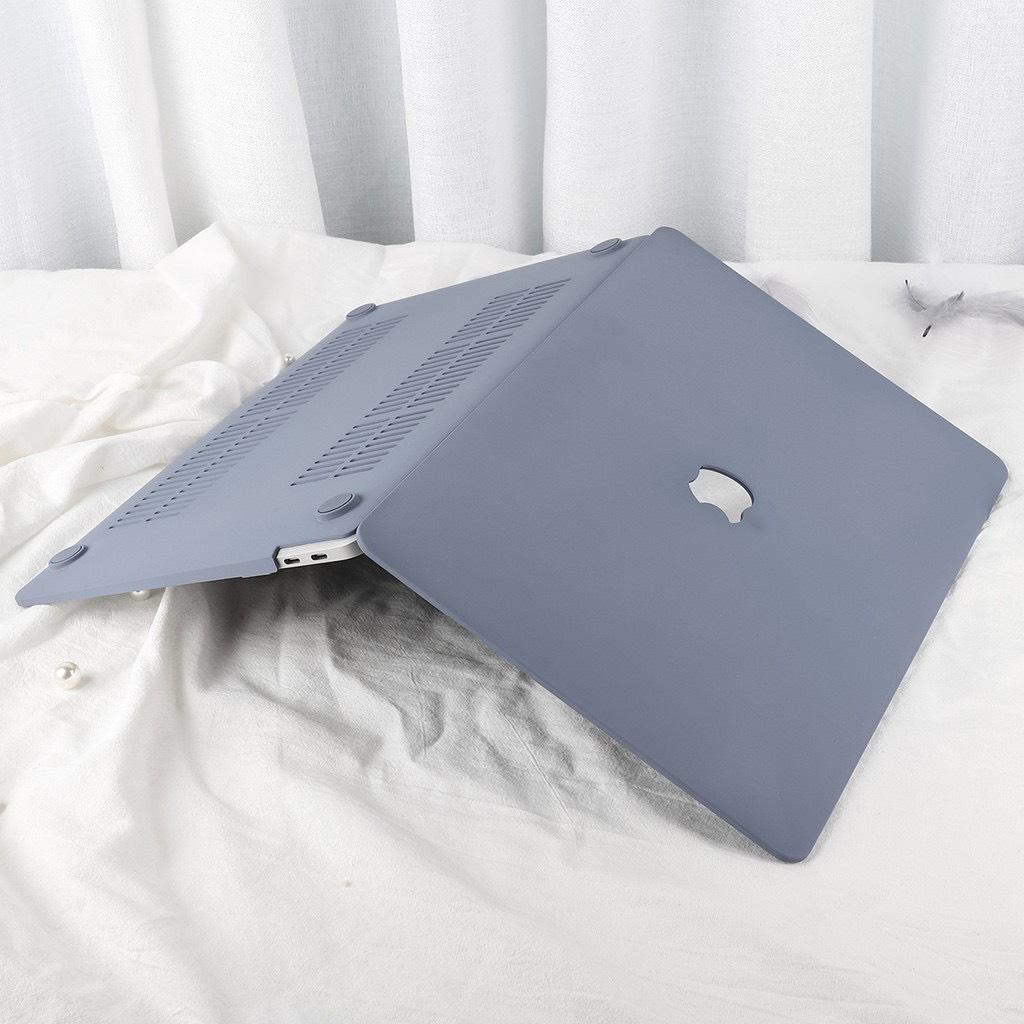 Case ốp nhựa ABS bảo vệ macbook siêu mỏng nhẹ không nóng máy kèm tấm phủ phím silicon chống nước màu xám siêu đẹp - Hàng chính hãng