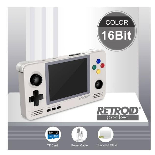 Máy chơi game RETROID POCKET 2 - DUAL BOOT - ANDROID và Retroid OS có Store download game
