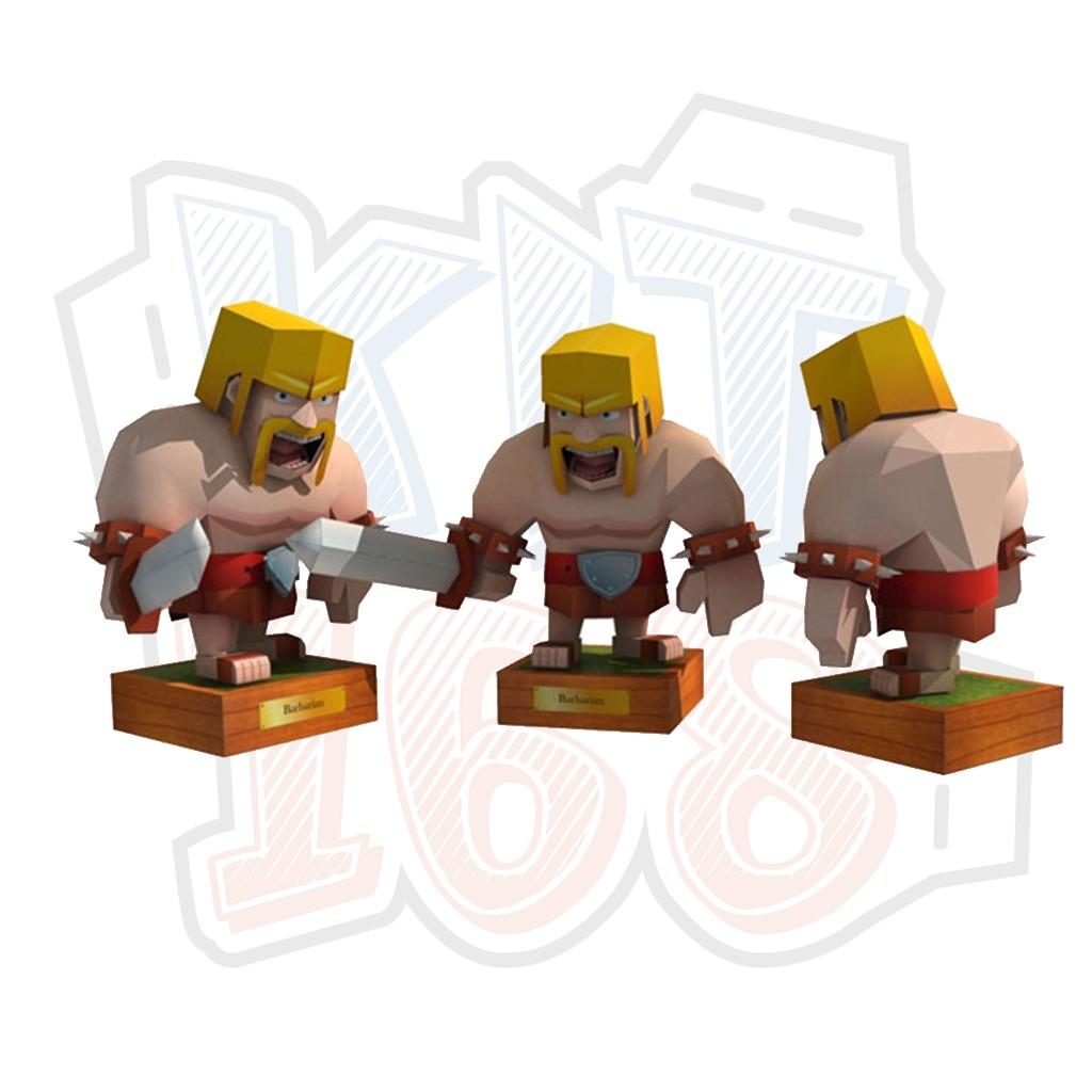Mô hình giấy Game Barbarian - Clash of Clans