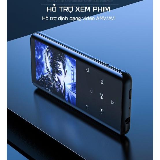 Máy Nghe Nhạc Cầm Tay RUIZU D25 Bluetooth Bộ Nhớ 8GB Tặng Kèm Tai Nghe,Cáp Sạc - Hàng Chính Hãng