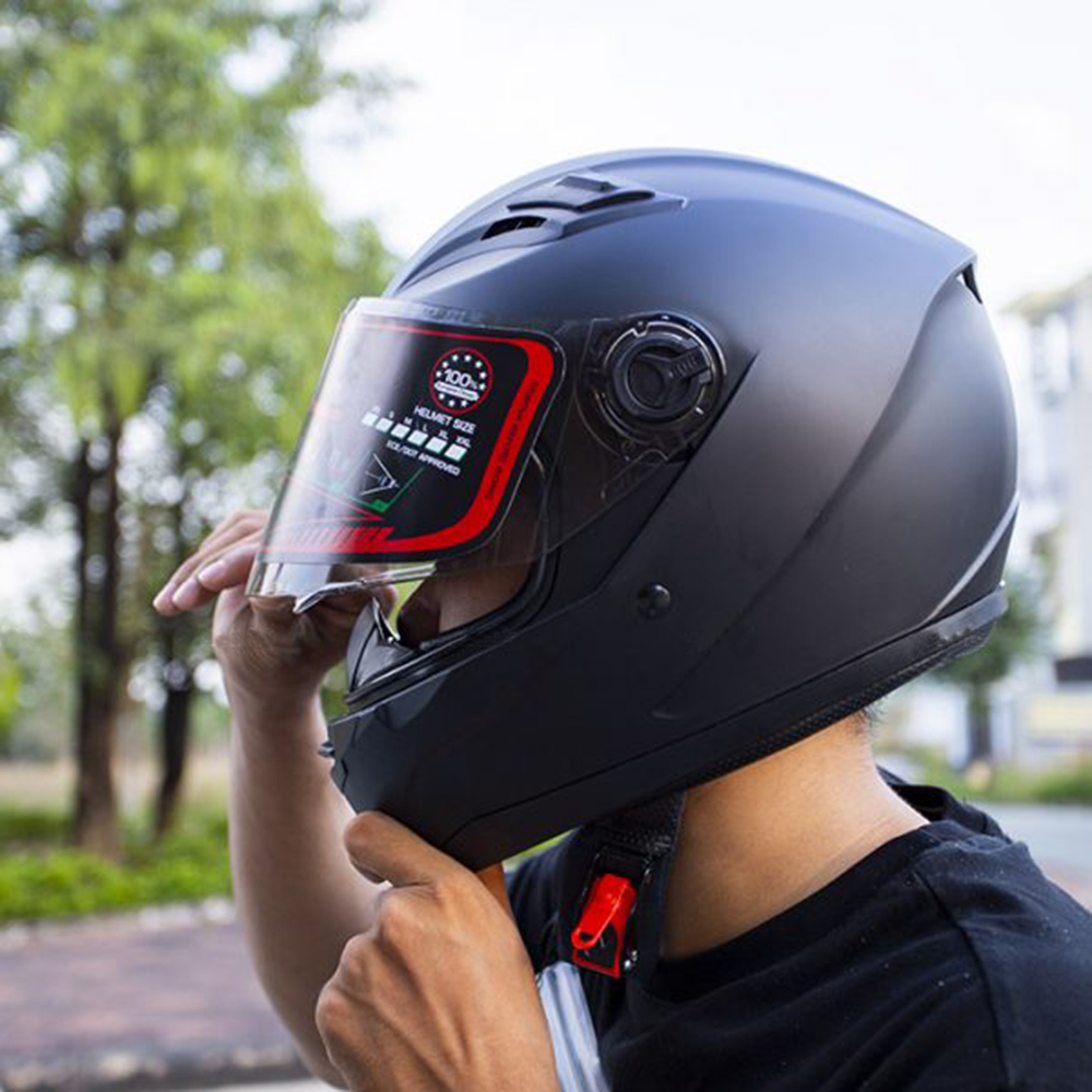 Nón Fullface Moto AGU _ K38 Kính trà chống bụi, chống chói đi đêm được