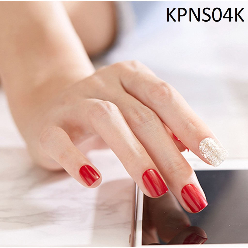 Bộ 30 Móng Tay Gel Dán Press & Go Kiss New York Nail Box - Holiday Red (KPNS04K)