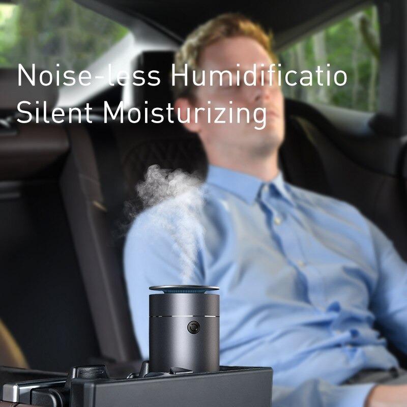 Máy phun sương tạo ẩm, xông tinh dầu mini dùng cho xe hơi Baseus Time Aromatherapy Humidifier (75ml , Alloy Air Humidifier Aroma for Car) - Hàng chính hãng