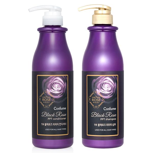 Dầu xả hoa hồng đen Confume Black Rose Shampoo Hàn Quốc 750ml + Móc khóa