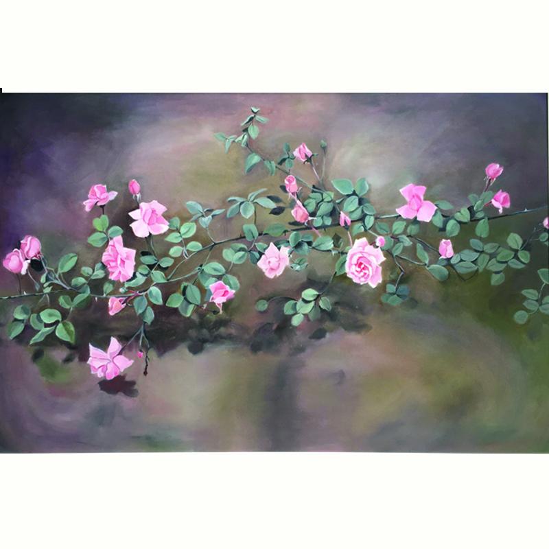 Tranh sơn dầu vẽ tay Lady Roses OP011