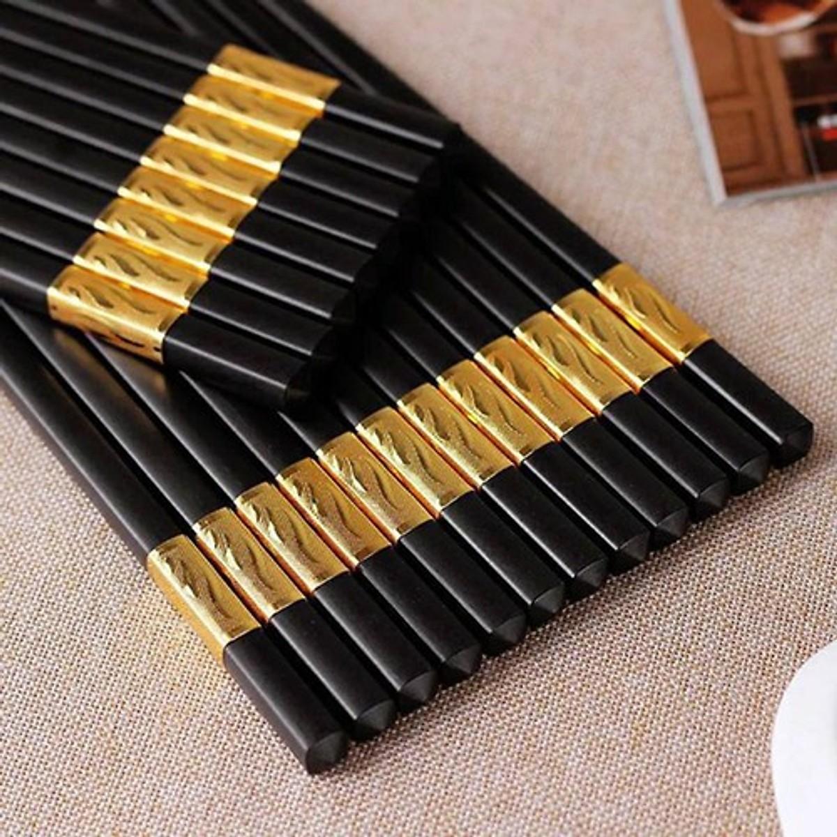 Bộ 10 đôi đũa mạ vàng Hàn Quốc Cao Cấp