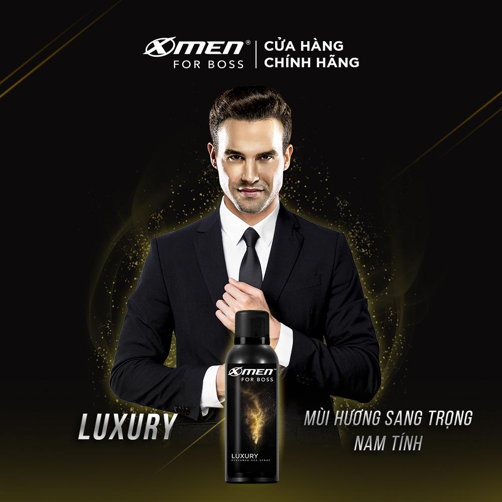 Combo 2 Xịt Khử Mùi X-Men For Boss Luxury - Mùi Hương Sang Trọng Tinh Tế 150ml