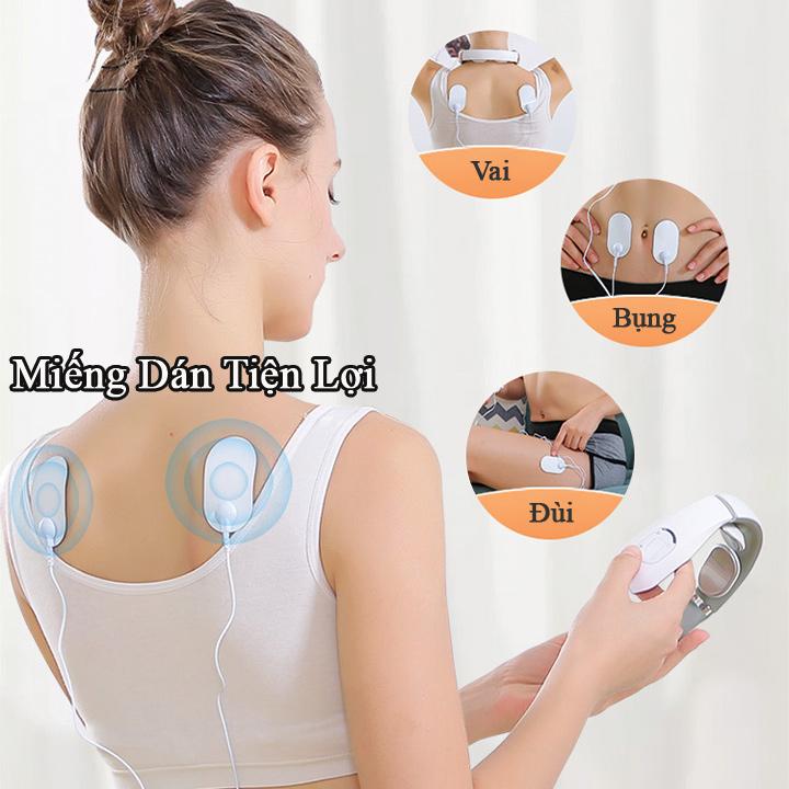 Máy Massage Cổ Điện Xung Leerkang LEK-518D tích hợp massage nhiệt