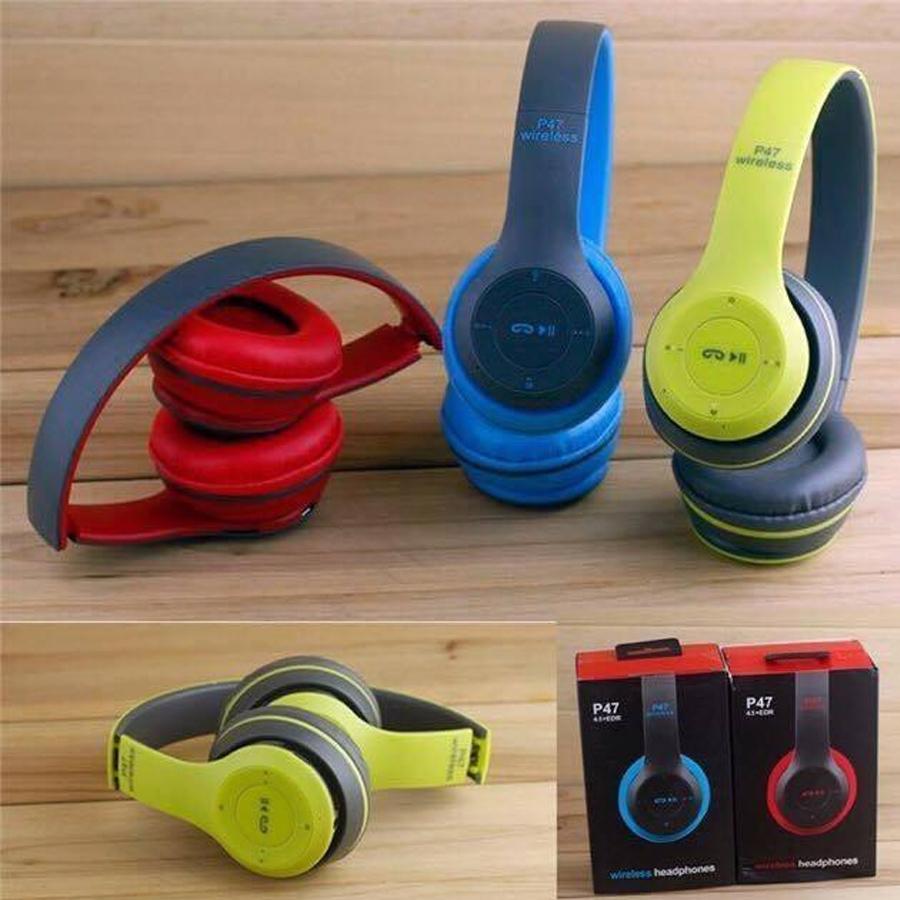 Tai nghe chụp tai cao cấp có thẻ nhớ Bluetooth P47
