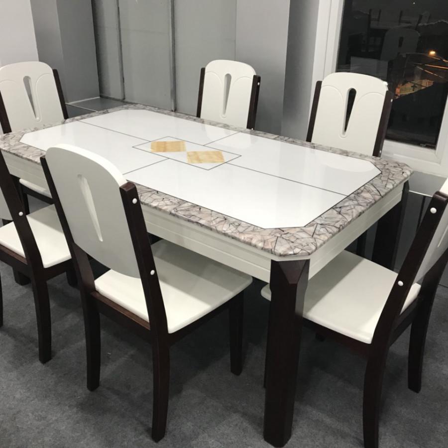 Bộ bàn ăn mặt đá nhập khẩu cao cấp TD-MDC28-14