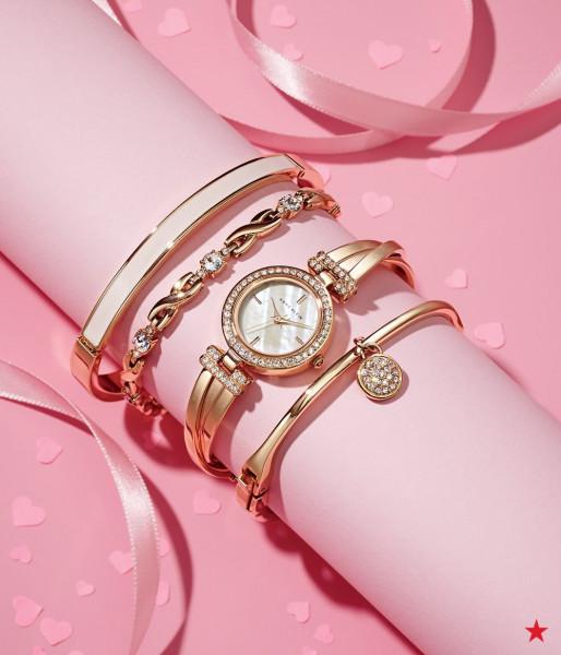 Bộ đồng hồ và vòng tay ANNE KLEIN 2238RGST