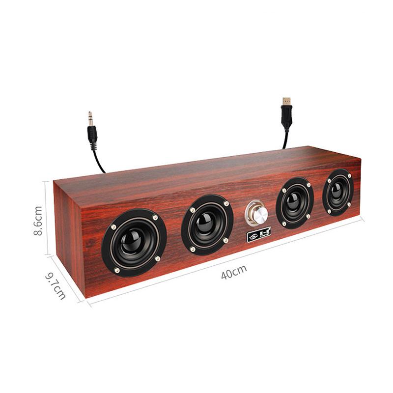 Loa Nghe Nhạc Máy Tính Siêu Trầm X-11 Vỏ Gỗ Cao Cấp + Tặng Tai Nghe Bluetooth Móc Tai Kiểu Dáng Thể Thao S6 Cao Cấp