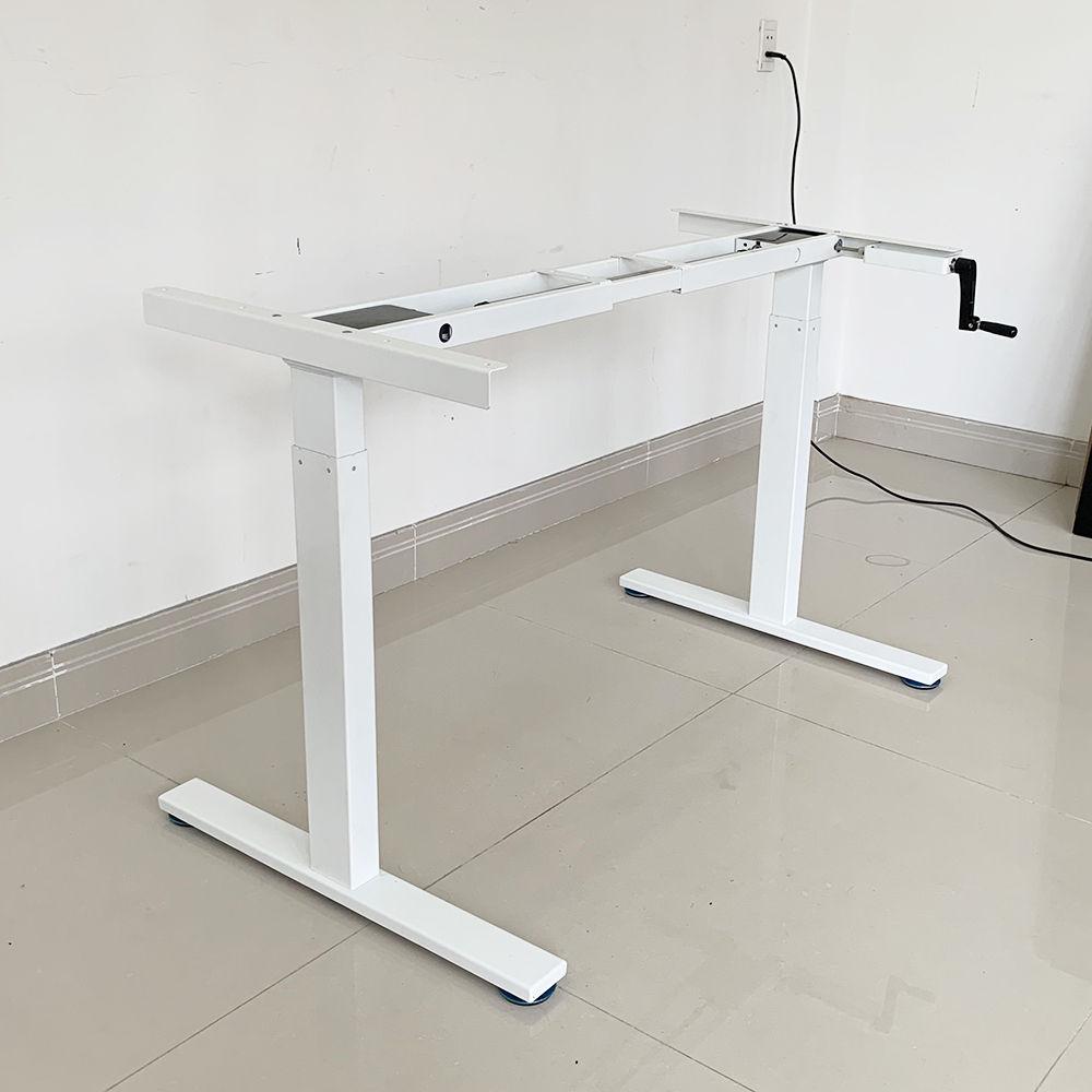 Bàn FlexiBasic 60x120cm nâng hạ bằng tay quay, mặt bàn gỗ tre ép