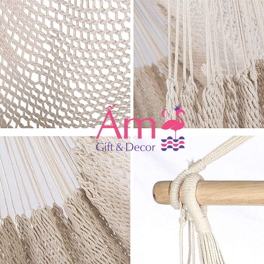 Võng Treo Trần Tuarua BoHo Đan Dây Cotton Chịu Lực Từ 150kg Phù Hợp Với Mọi Lứa Tuổi