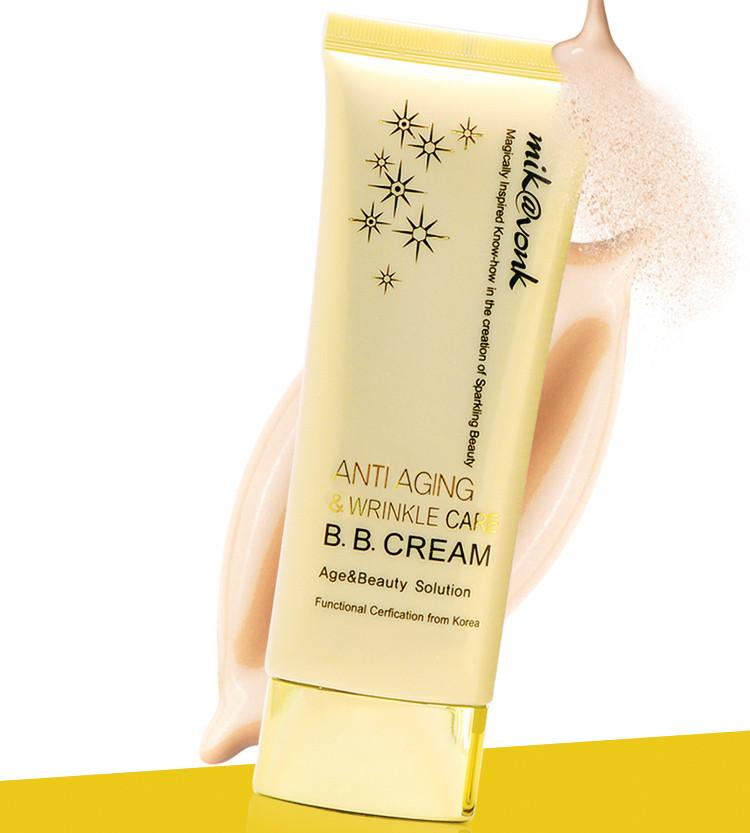 Kem BB Cream Anti Aging & Wrinle Care Mik vonk Hàn Quốc 60ml No.2 Gold Beige tặng kèm móc khoá 1