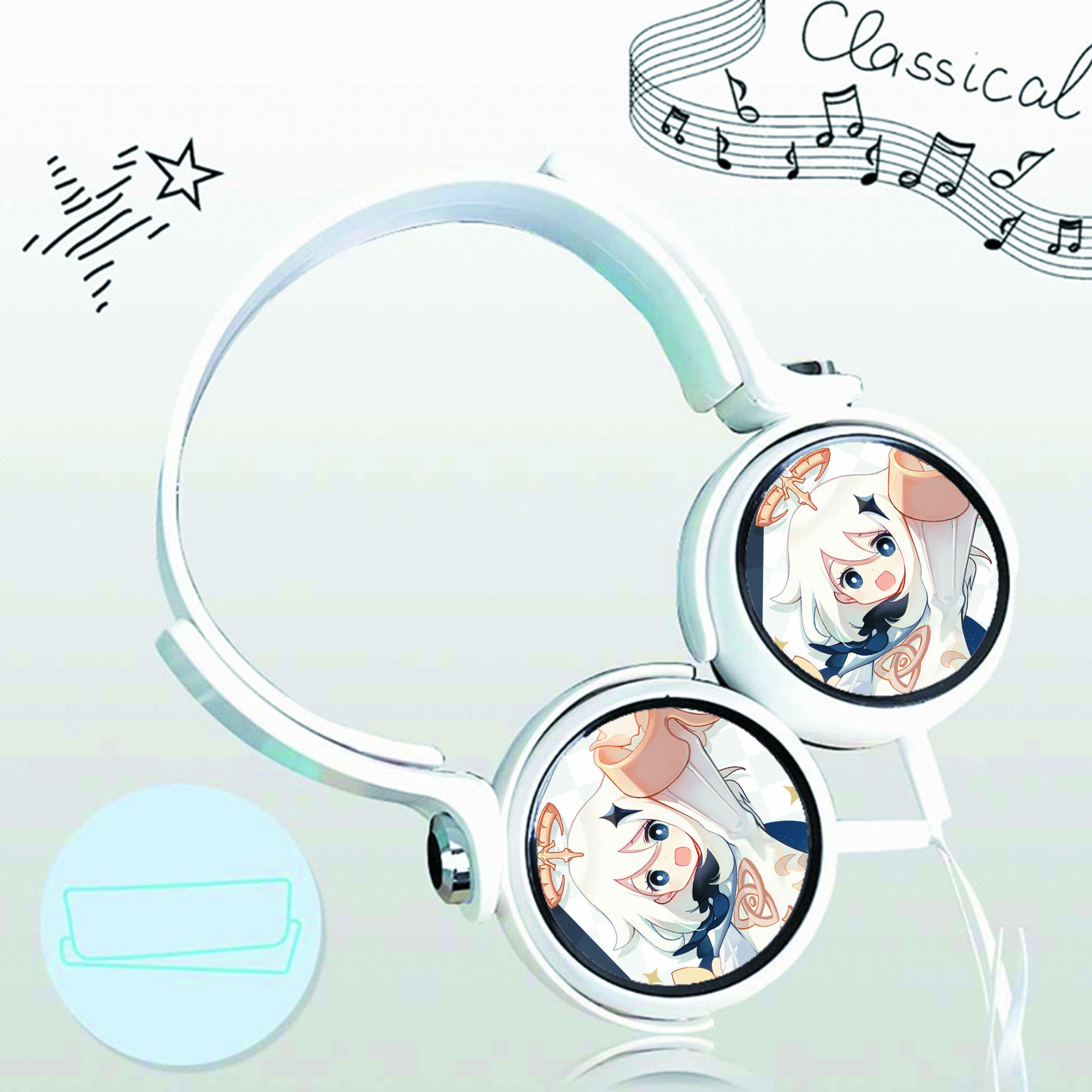 Tai nghe IN HÌNH Genshin Impact game thiết kế thông minh cá tính cắm dây có mic