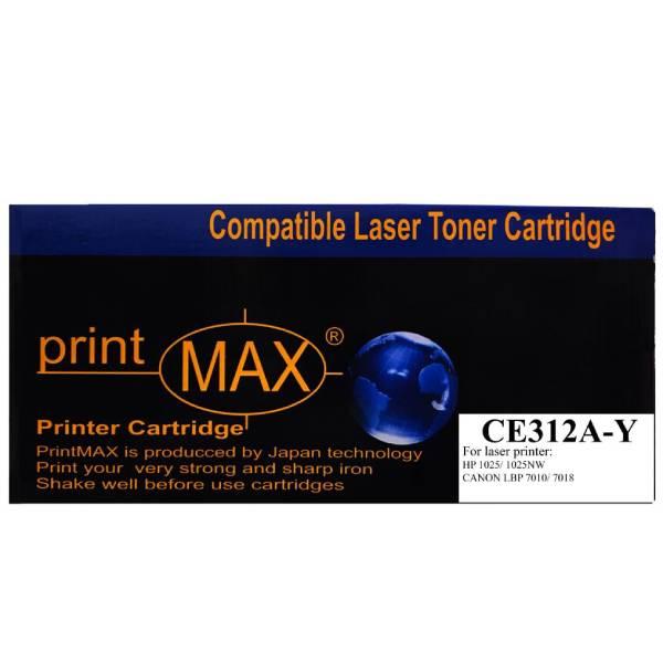 Hộp mực in Laser màu Vàng PrintMAX dành cho máy HP CE312A ( Y ) - Canon 7018– Hàng Chính Hãng