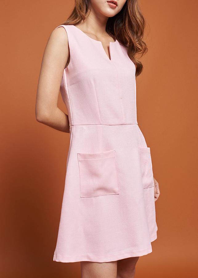 Đầm Nữ Chữ A Mint Basic 1450PI - Hồng Size L